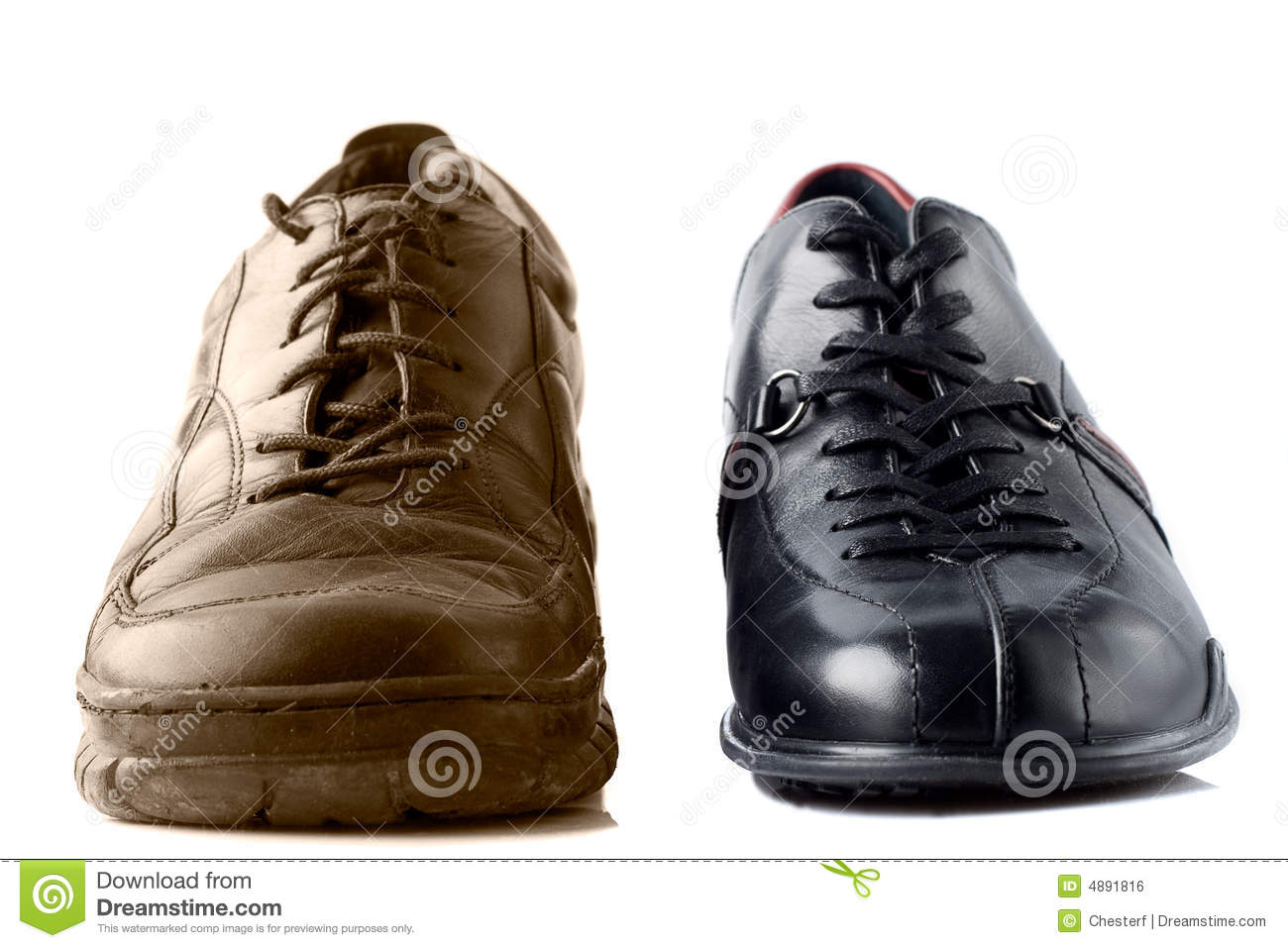 Strange Two Different Shoes Royalty Free Stock Image Image 4891816 Inspirational Interior Design Netriciaus