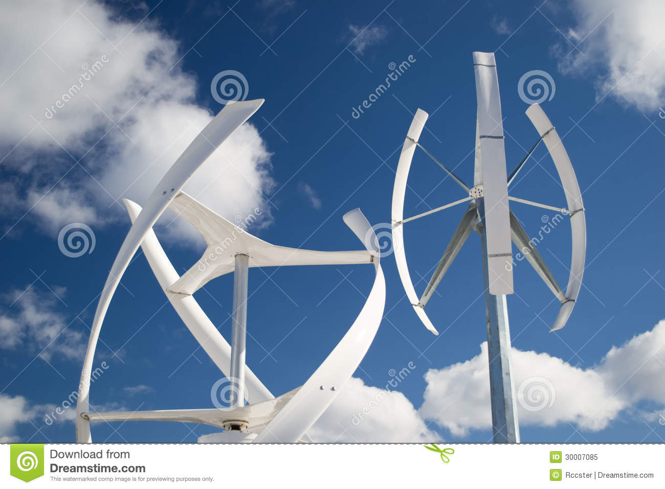 ... types of windmill turbines generating wind power. A renewable energy