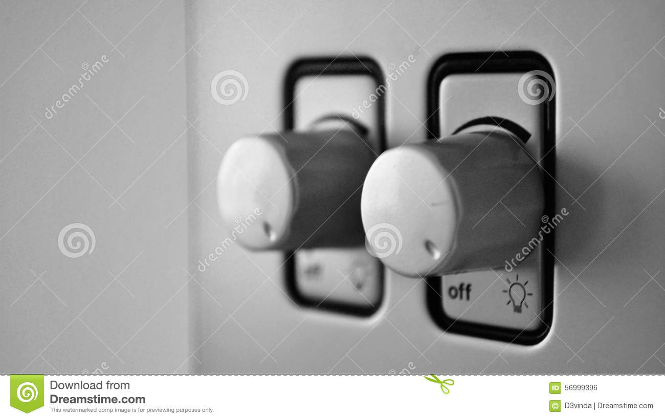 Two Dimmer Switches For Lights Stock Photo - Image of luxury, focus ...