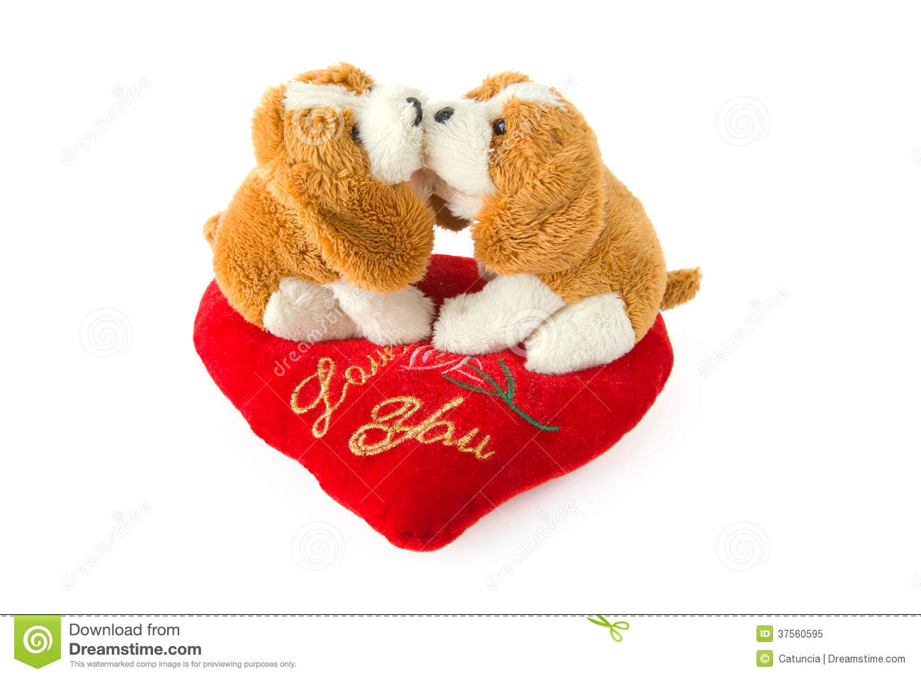 Valentine S For Dogs Toys : Two dogs kissing toys with valentine s heart royalty