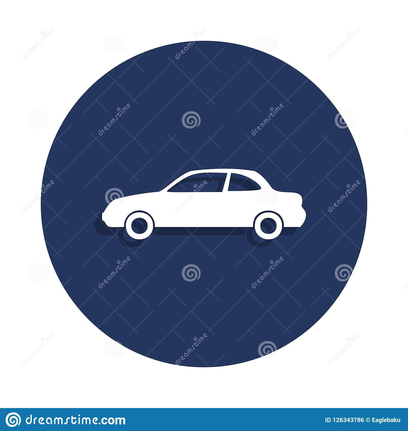 Two Door Car Icon In Badge Style One Of Cars Collection Icon Can Be