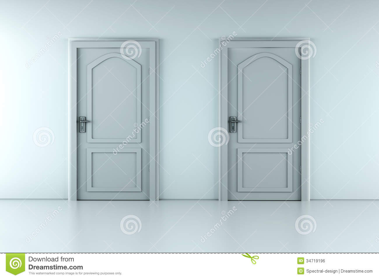 Two Doors & Two Doors stock illustration. Illustration of domestic - 34719196