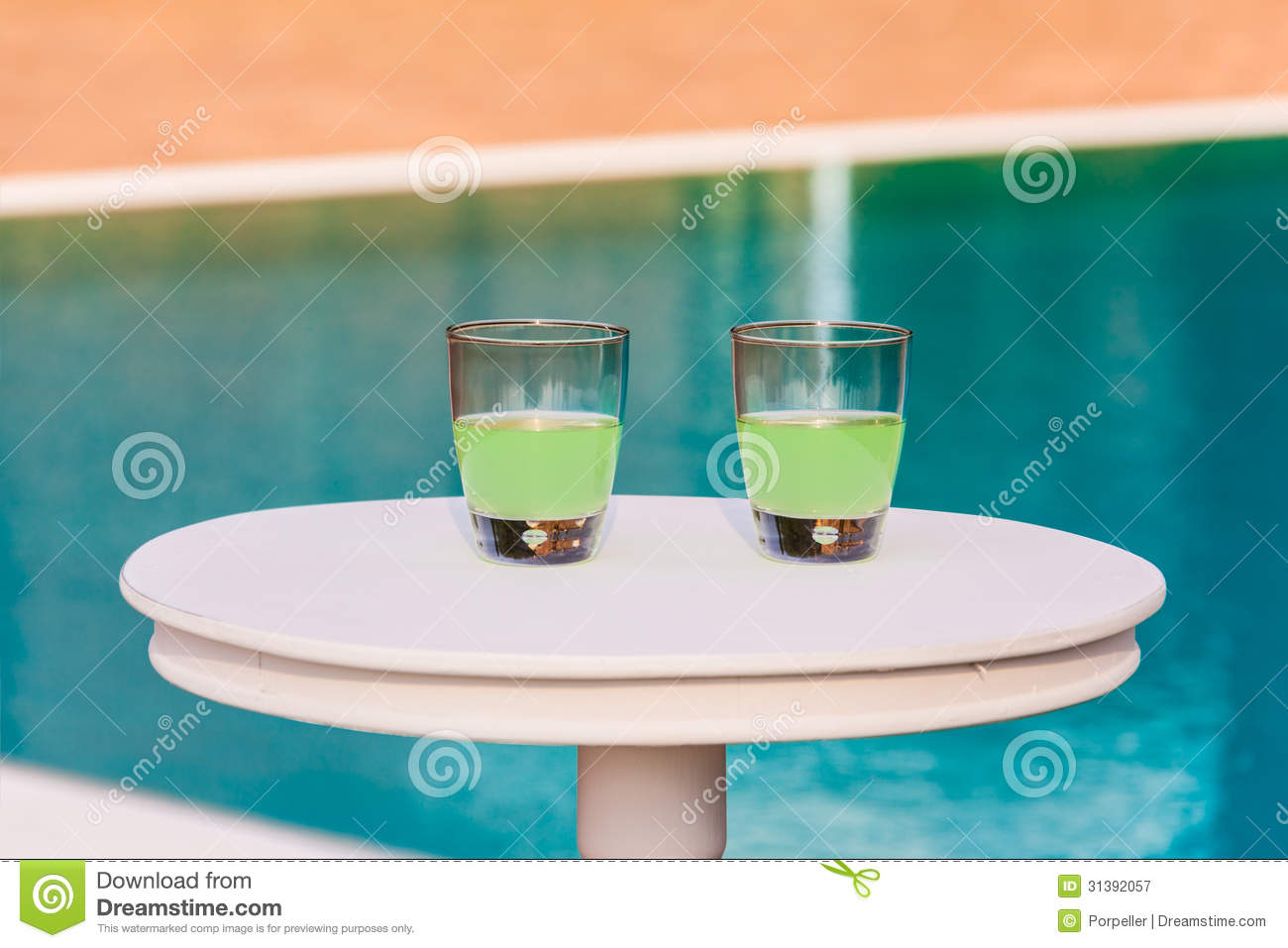 Two Drinks On A Table Royalty Free Stock Image