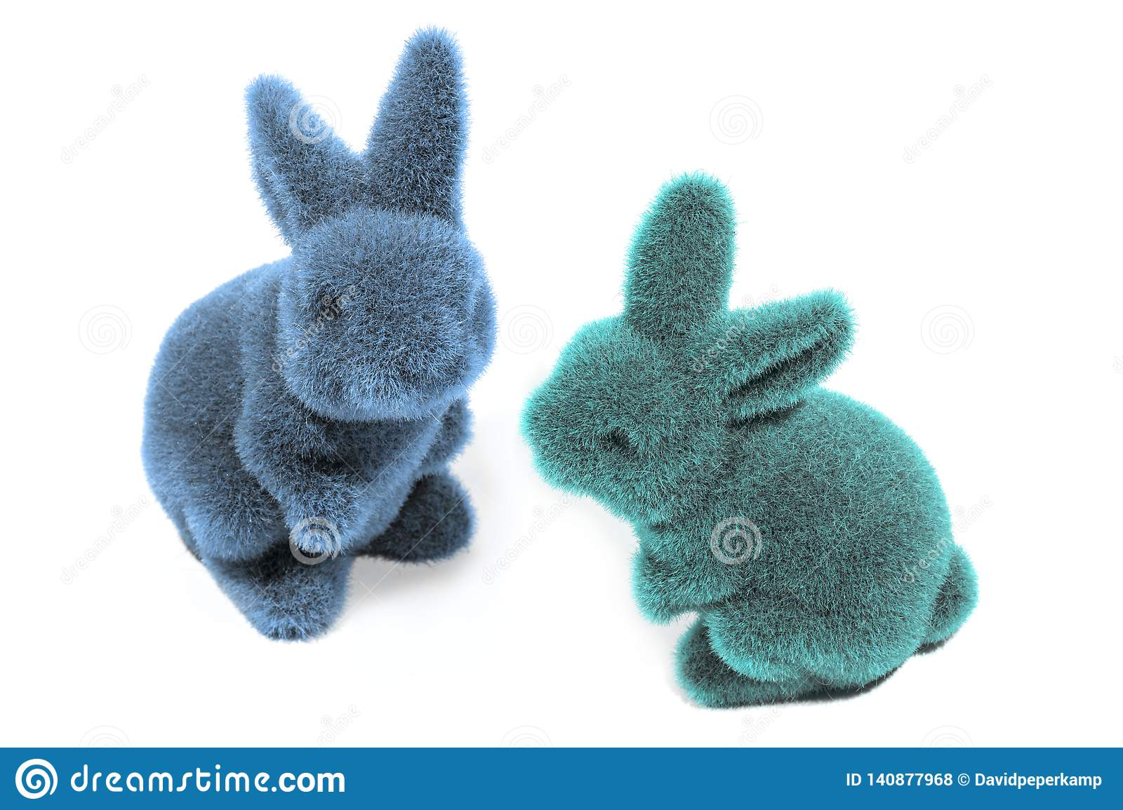 Two easter bunny`s
