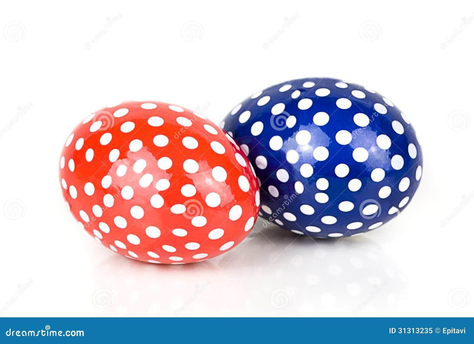 Two Easter Eggs Stock Image Of Season Dots Yellow
