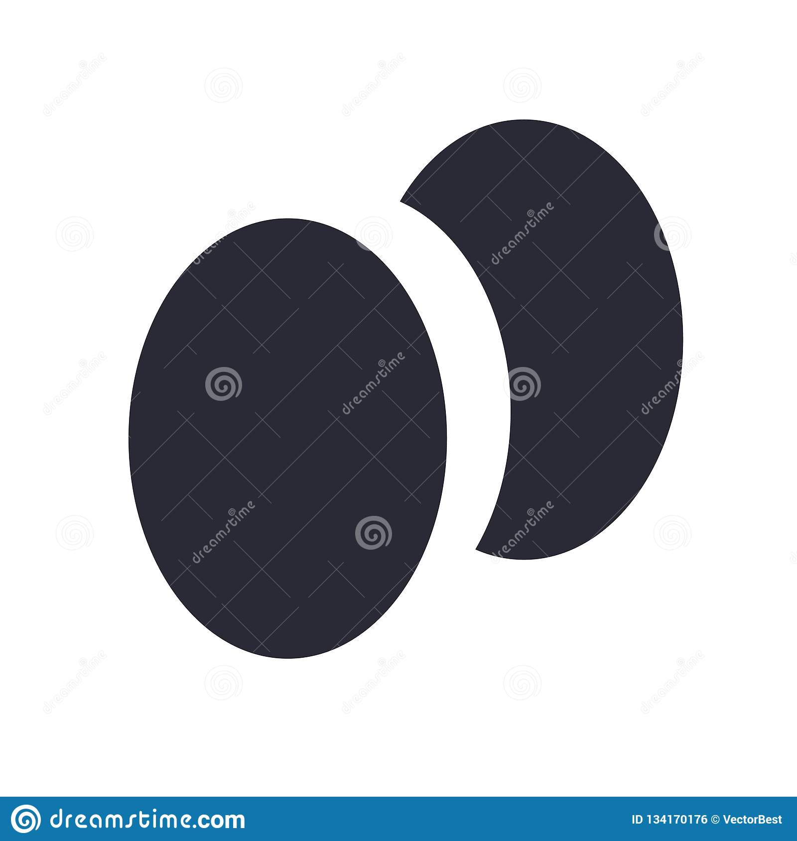 Two Eggs Icon Vector Sign And Symbol Isolated On White Background