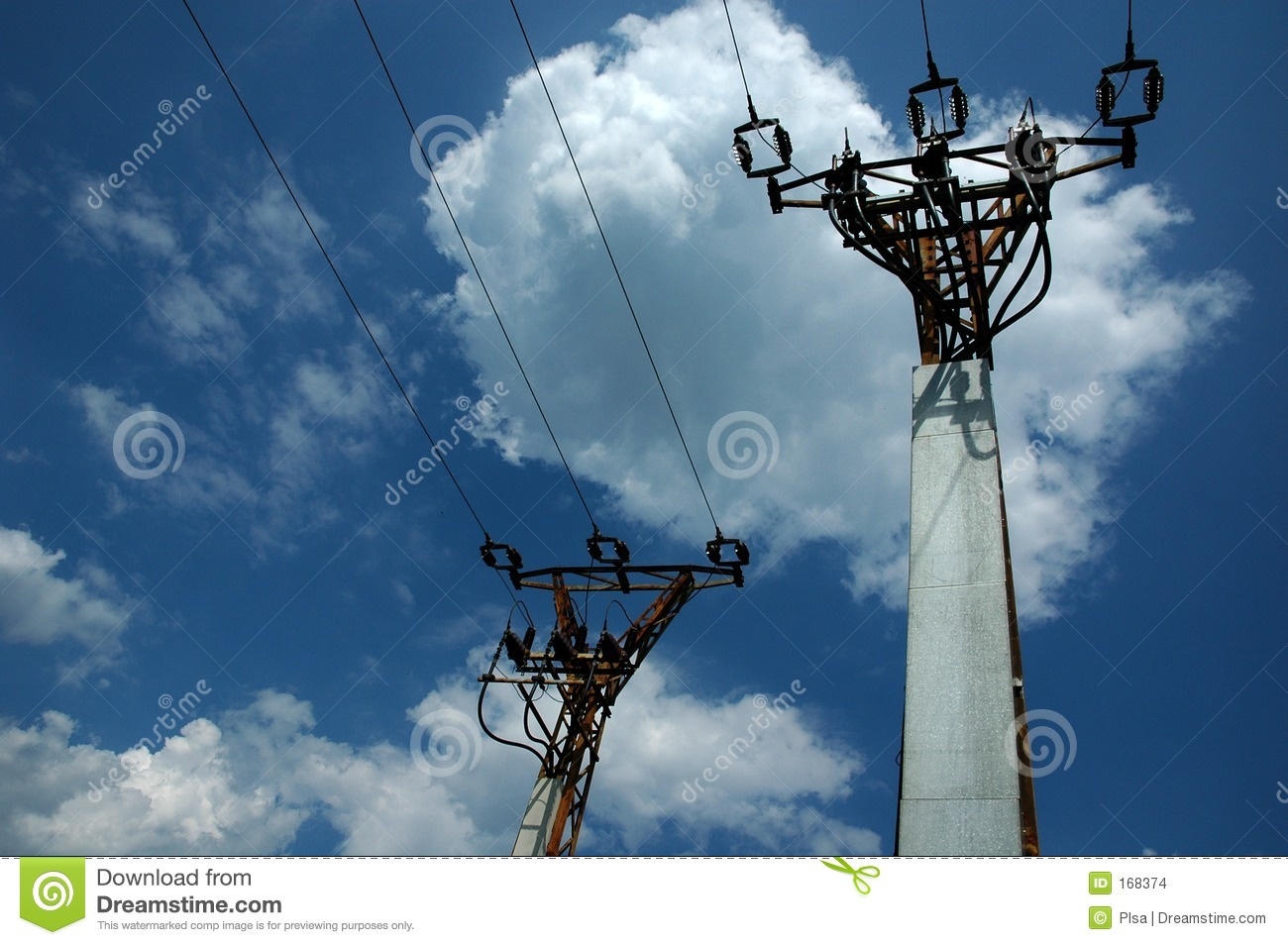 Two electric poles