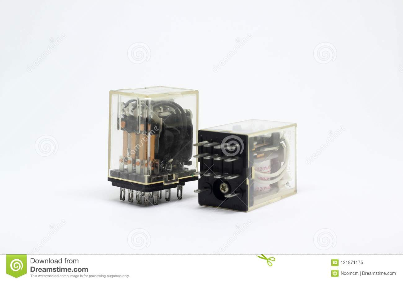 Electrical Relay On White Background Stock Image Of Switch No Nc Download Pair