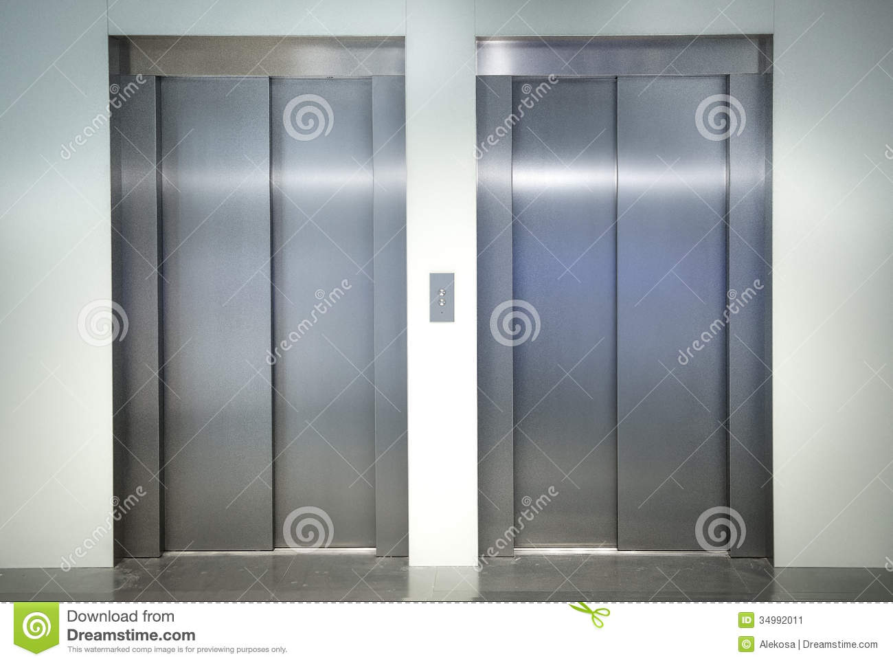 Two Elevators In The Office Stock Image Image Of Marble