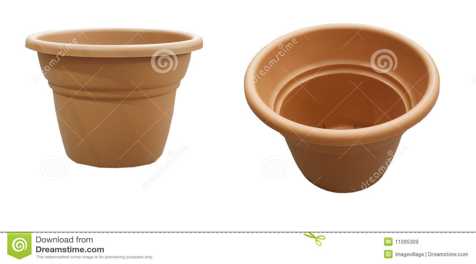 Two empty flower pots stock image Image of garden flower