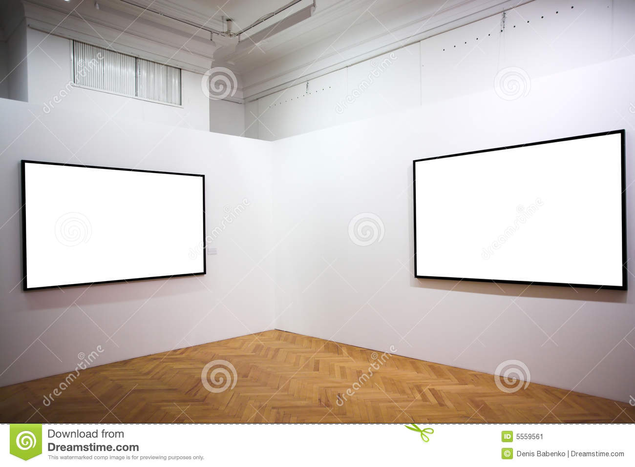Two Empty Frames On White Wall Stock Image - Image of light, cadre ...