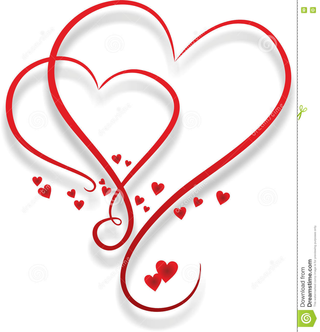 Two entwined hearts stock illustration. Image of metaphor ...