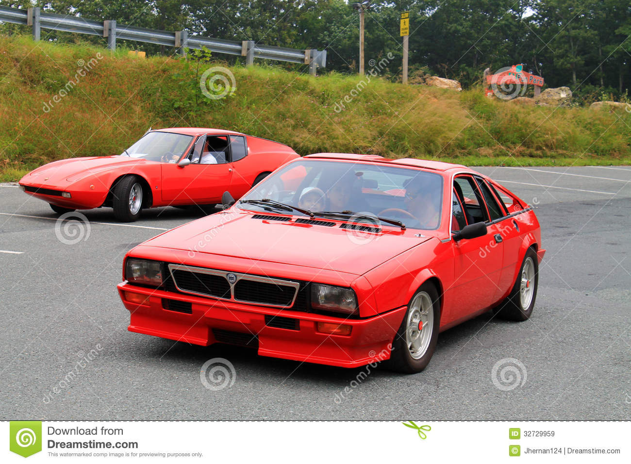 Two Exotic Classic Italian Sports Cars Editorial Stock