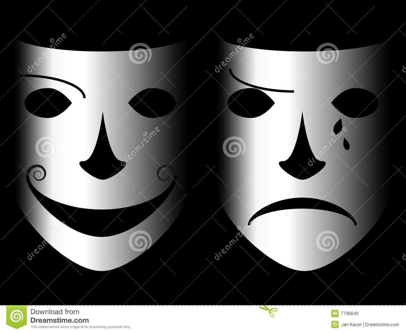 Two Face Stock Illustration  Illustration Of Arts