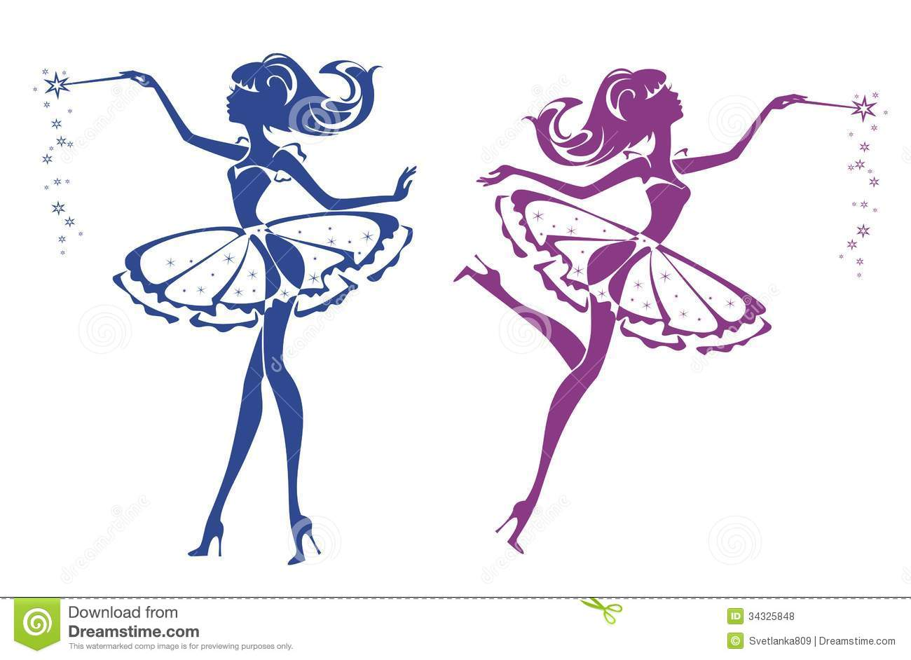 Two Fairies Royalty Free Stock Photos - Image: 34325848