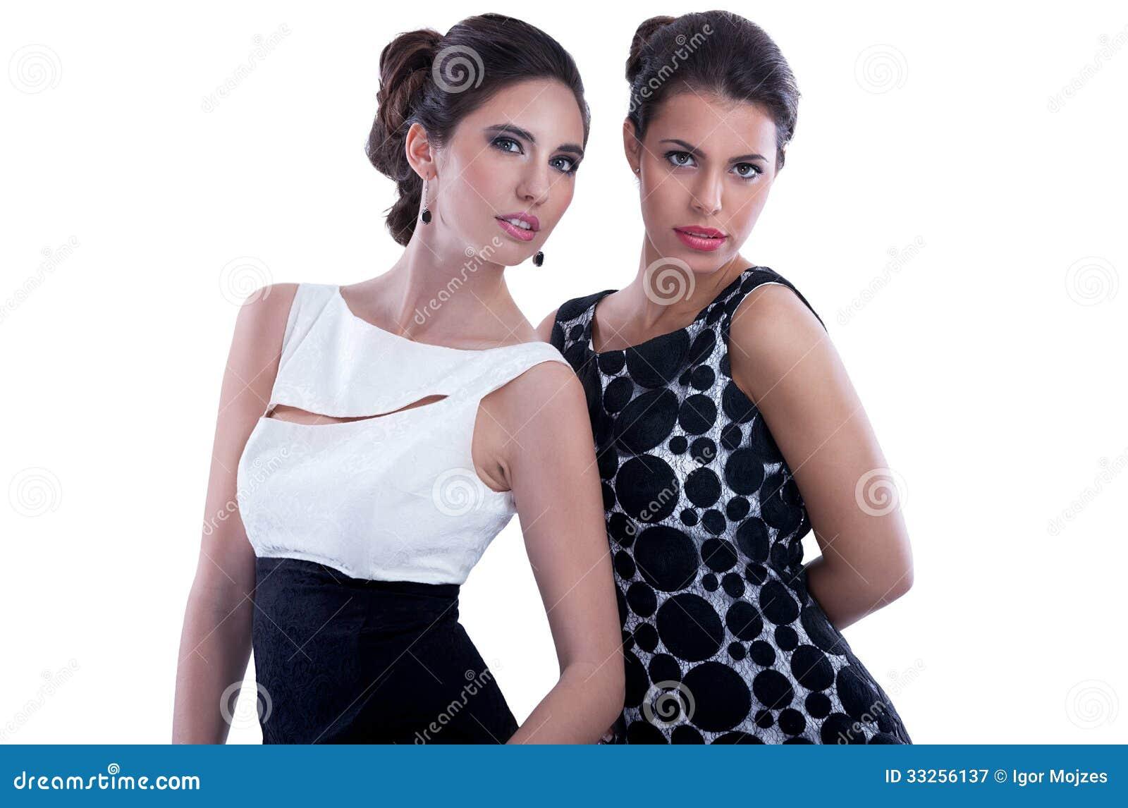 Two fashion women