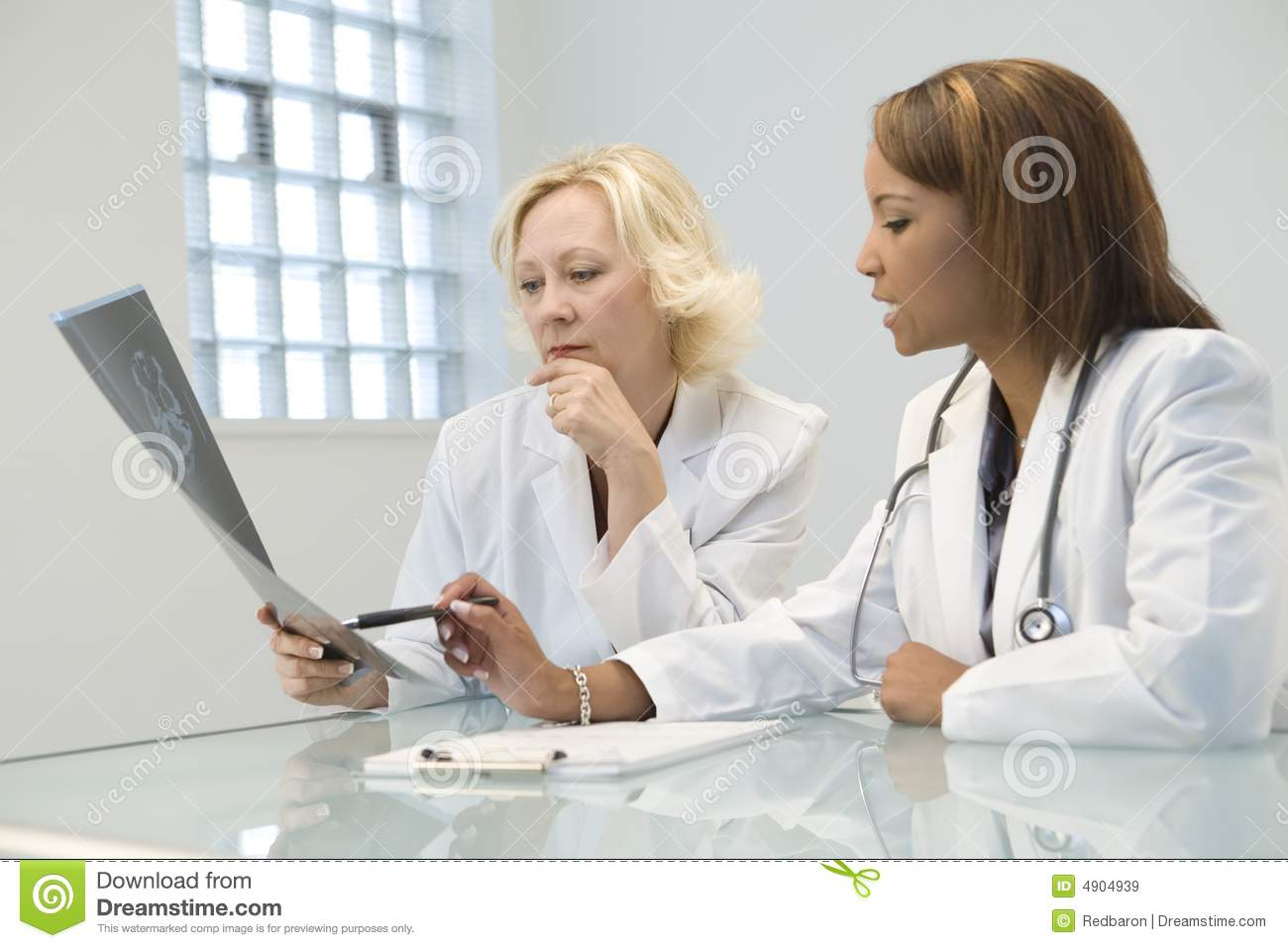 Two female doctors