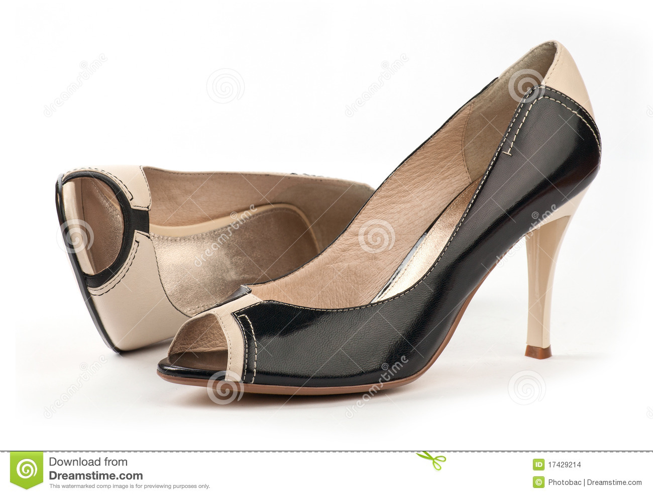 Open Toed Shoes Two female open-toe shoes over