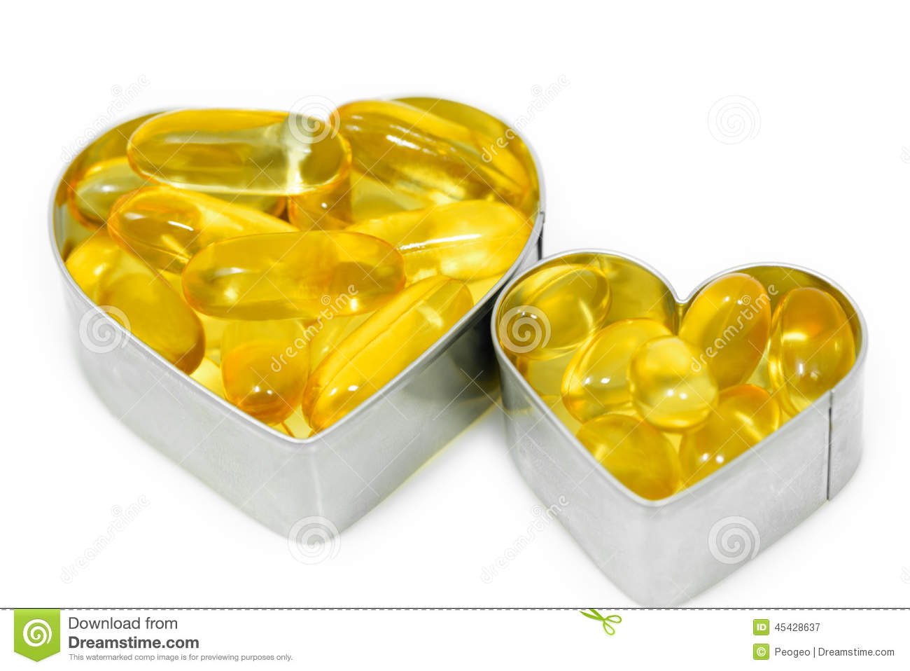 Two Fish Oil pills on Heart