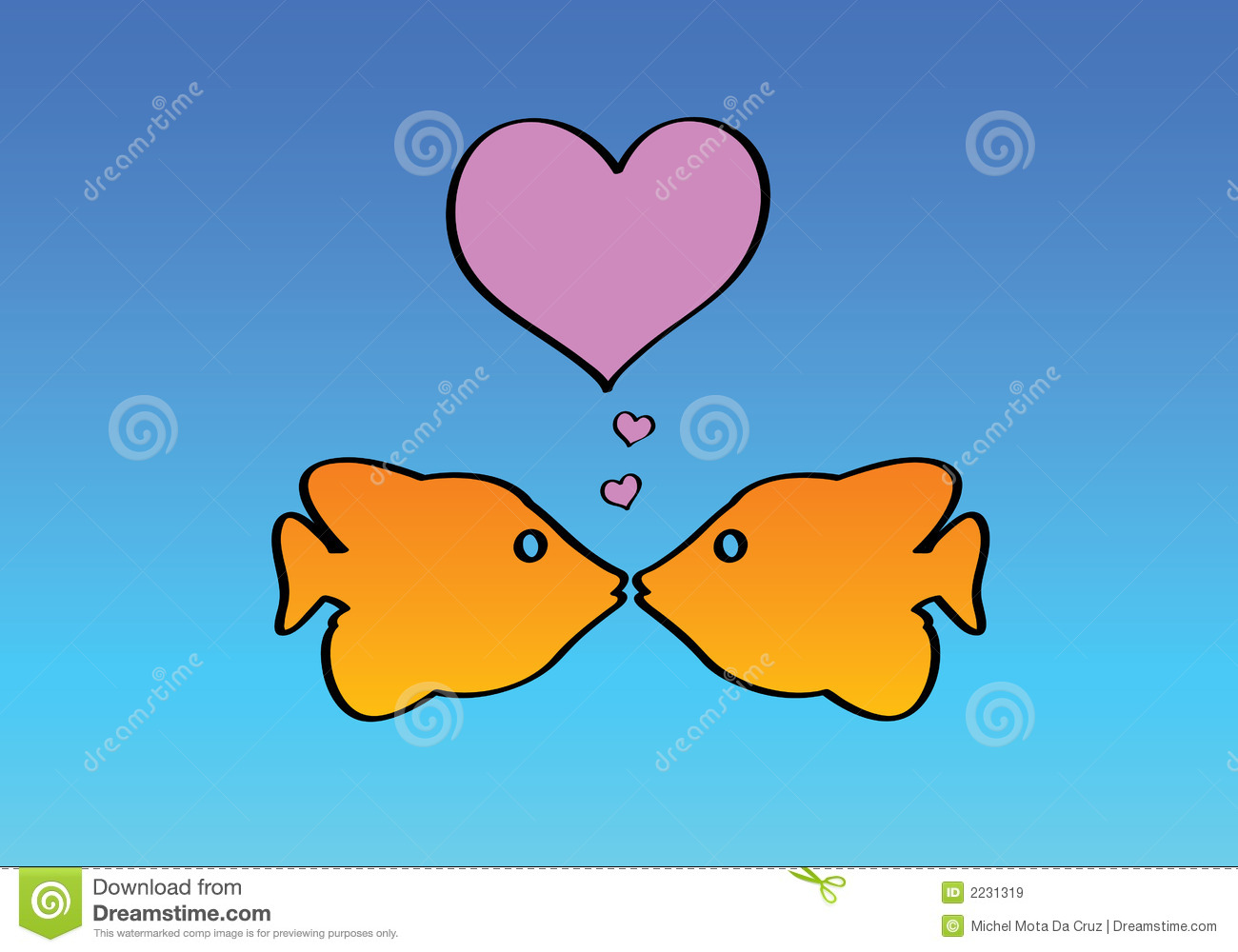 Two fishes in love royalty free stock images image 2231319 for I love the fishes
