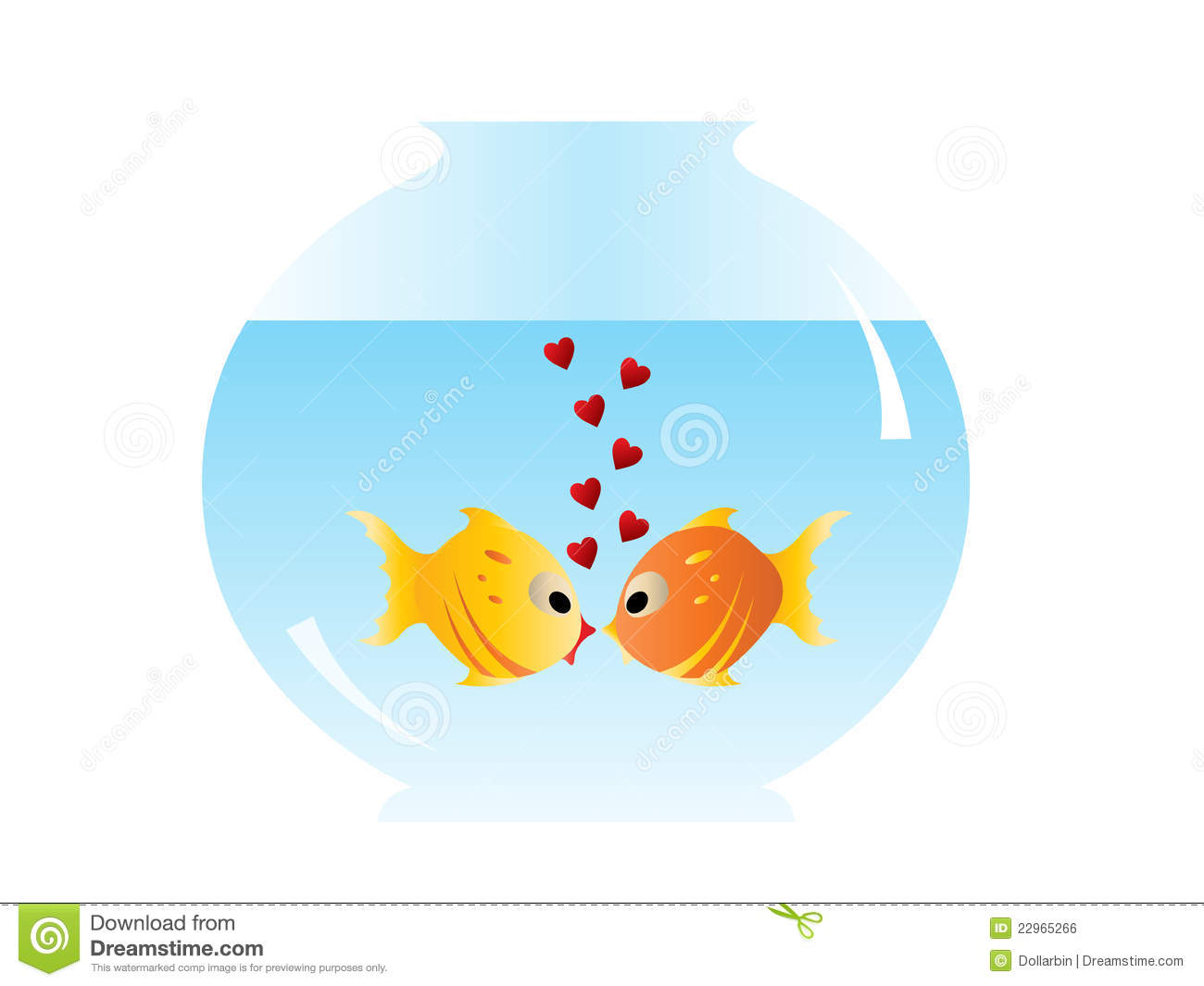 two fishes in love royalty free stock image image 22965266