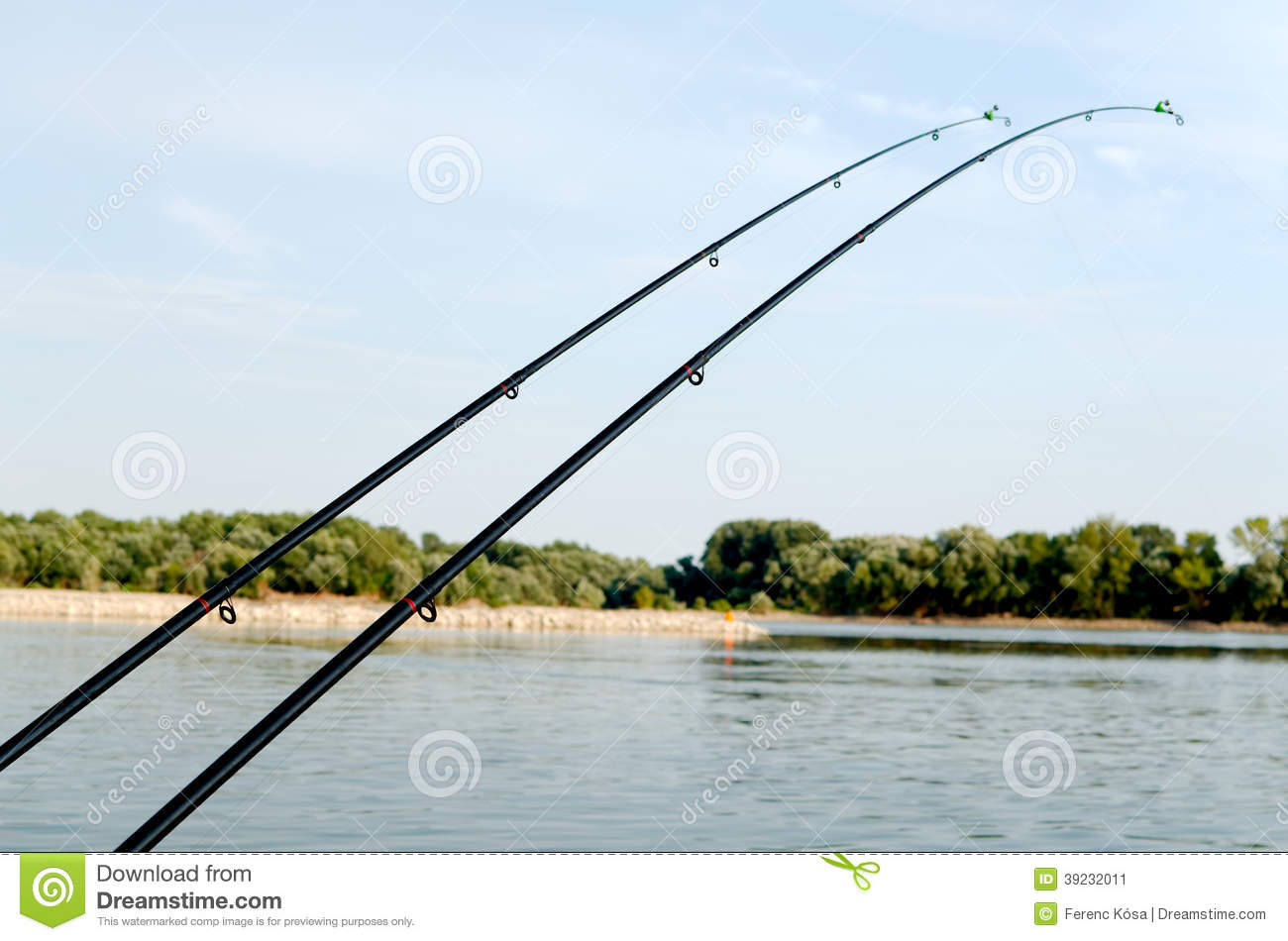 Two fishing rods stock photo image 39232011 for River fishing pole