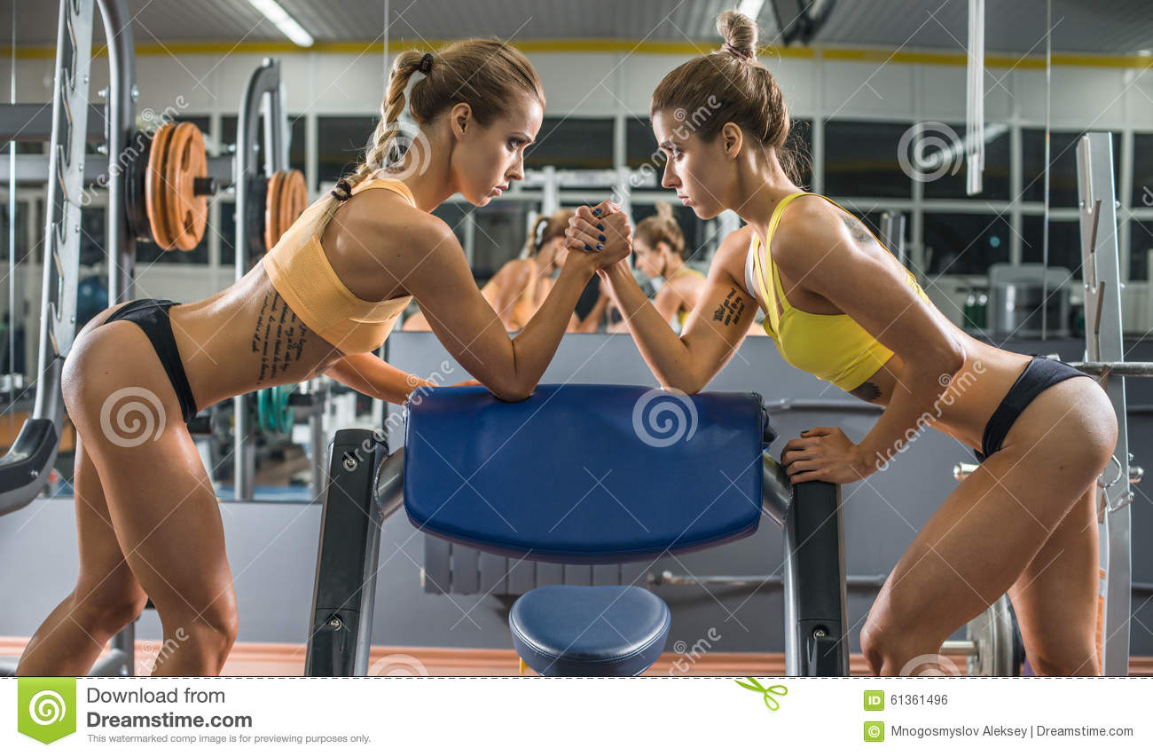 Two fitness woman stock photo  Image of coaching, slender - 61361496