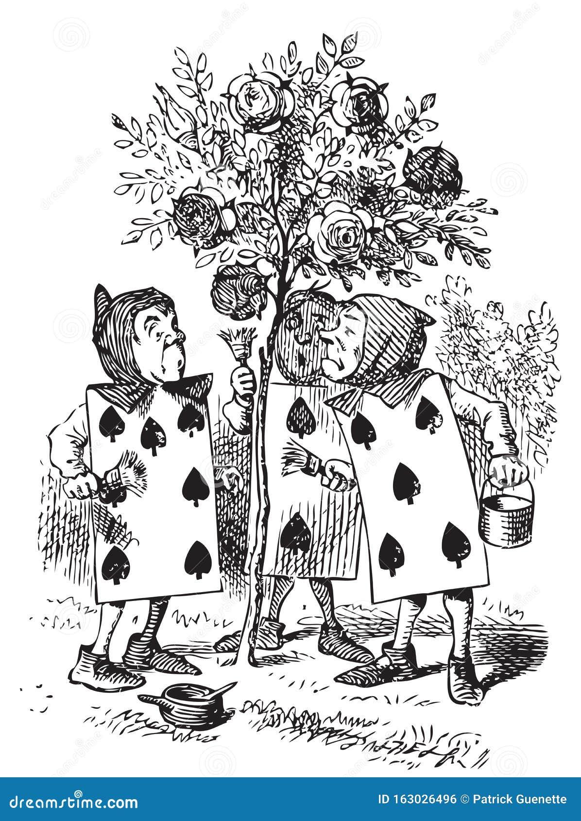 Tenniel Alice Wonderland lechón pequeño 9x7 pulgadas impresión arte enmarcado