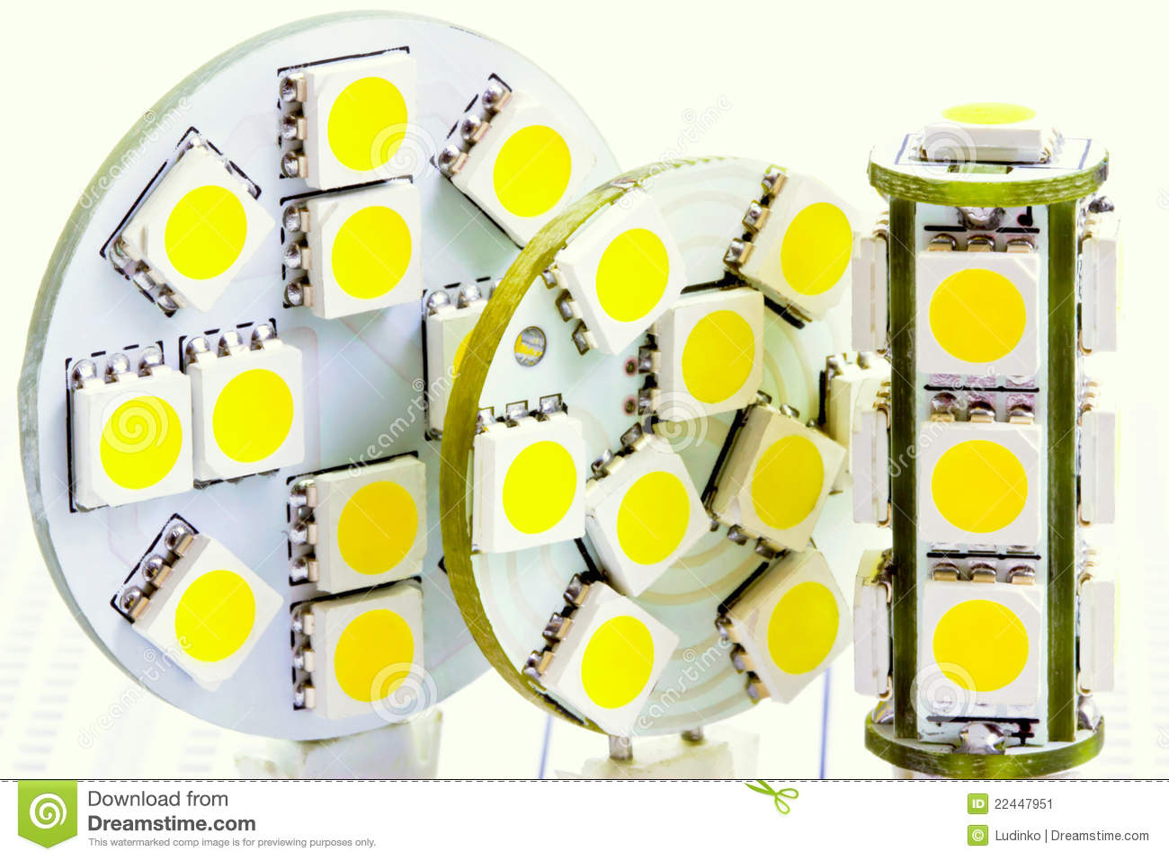 low priced b226f 1f9bd Two Flat LED Bulbs And One Cylindrical LED Bulb G4 Stock ...