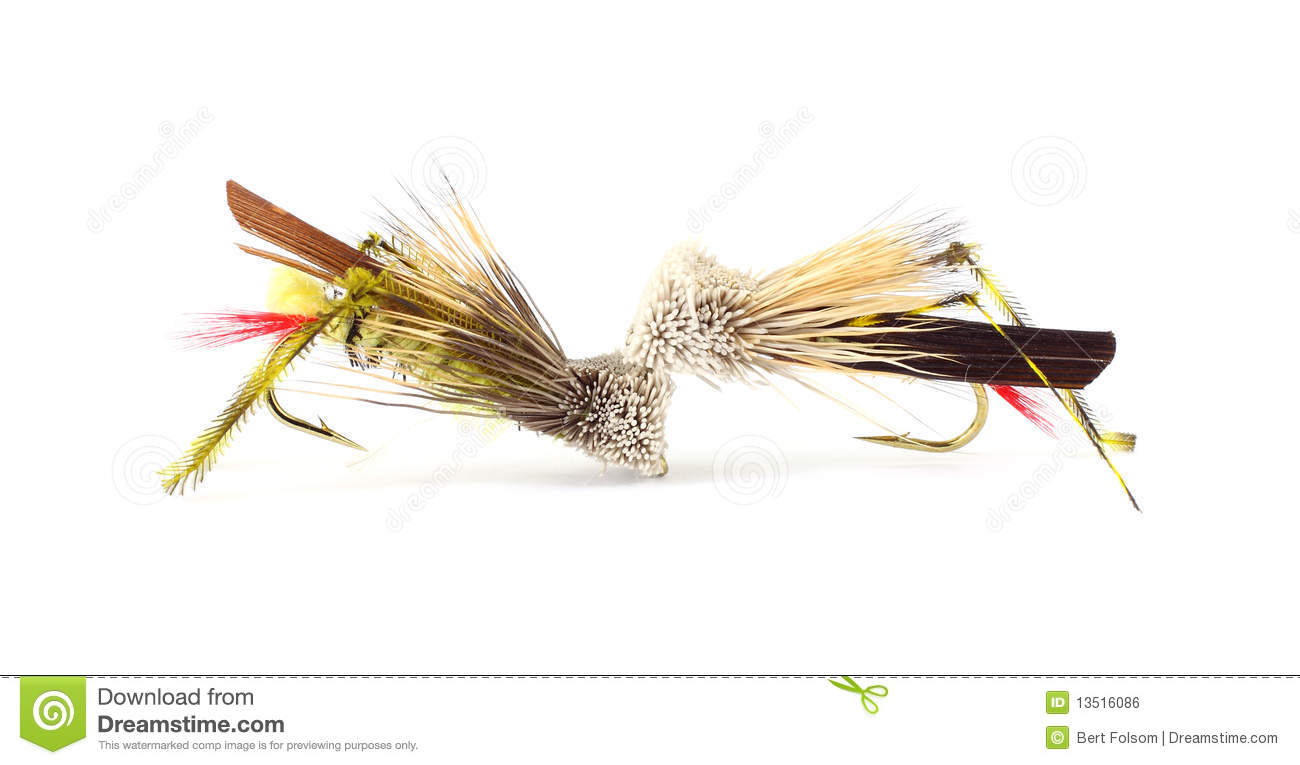Two Fly Fishing Grasshopper Flies Stock Photo Image Of