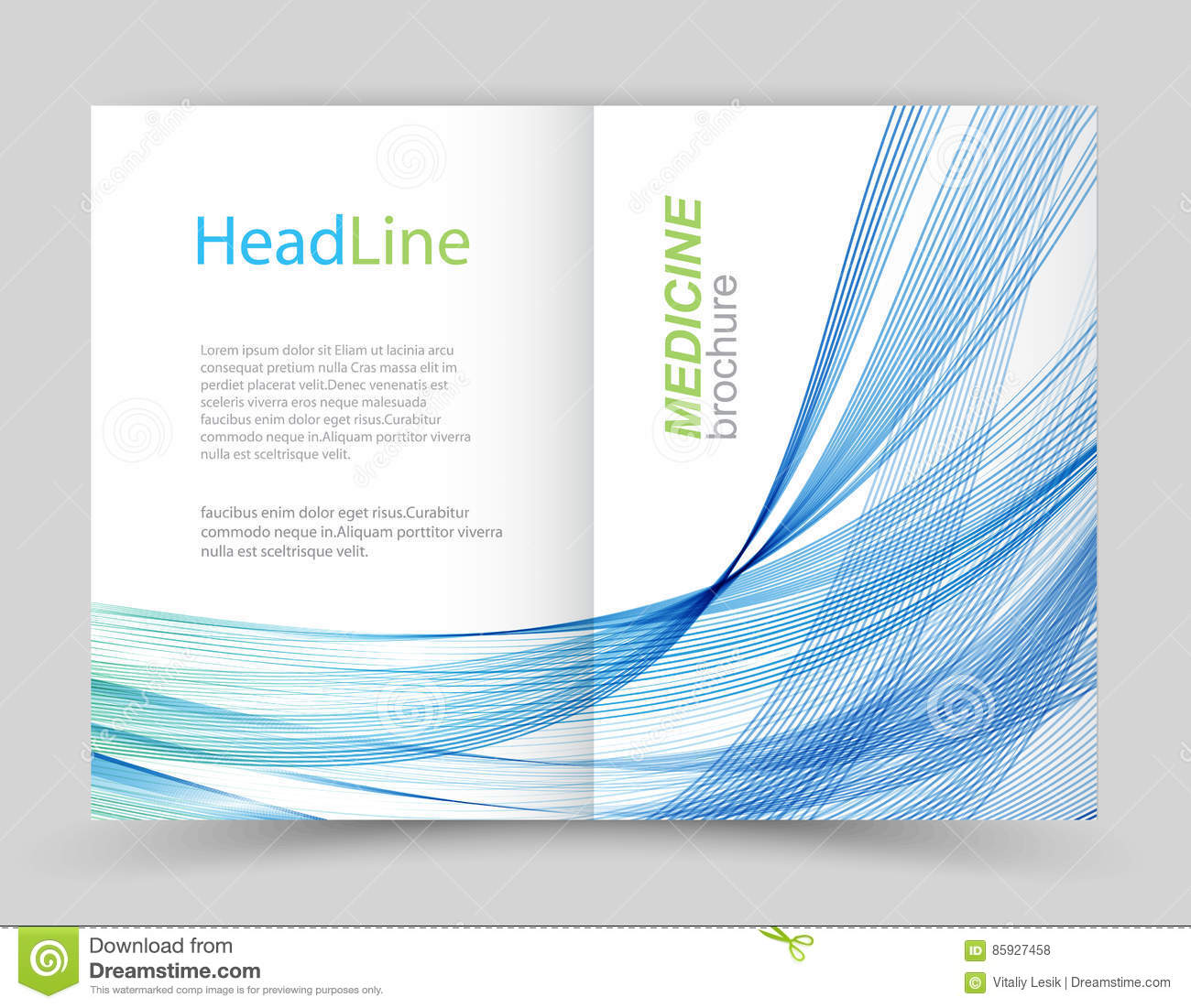 Two Fold Business Flyer Template Stock Vector Illustration Of Book
