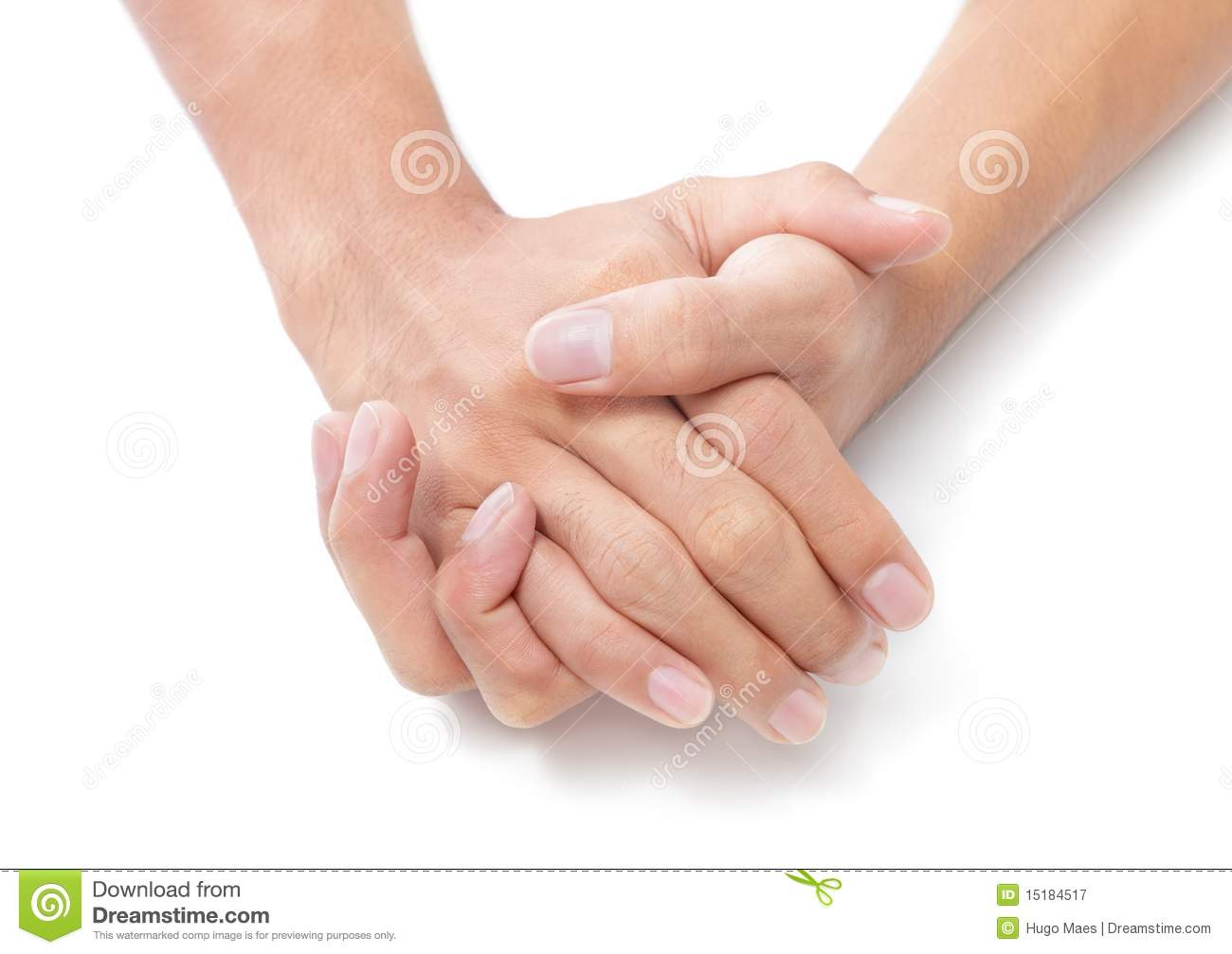Two Folded Hands Royalty Free Stock Photography Image