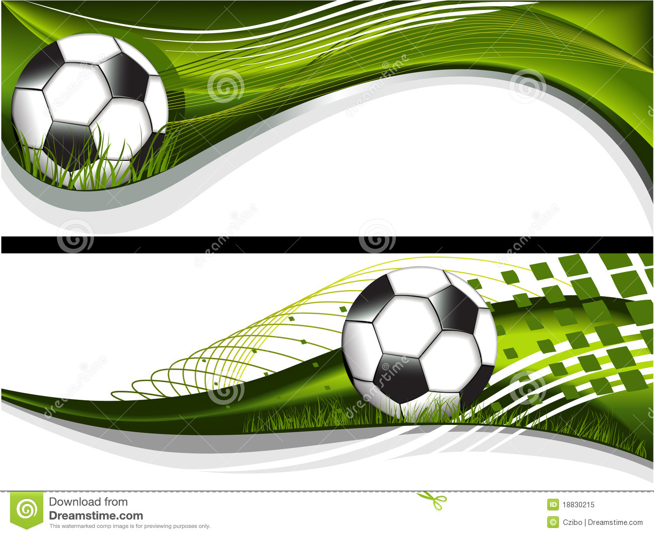 Two Football Banners Royalty Free Stock Image