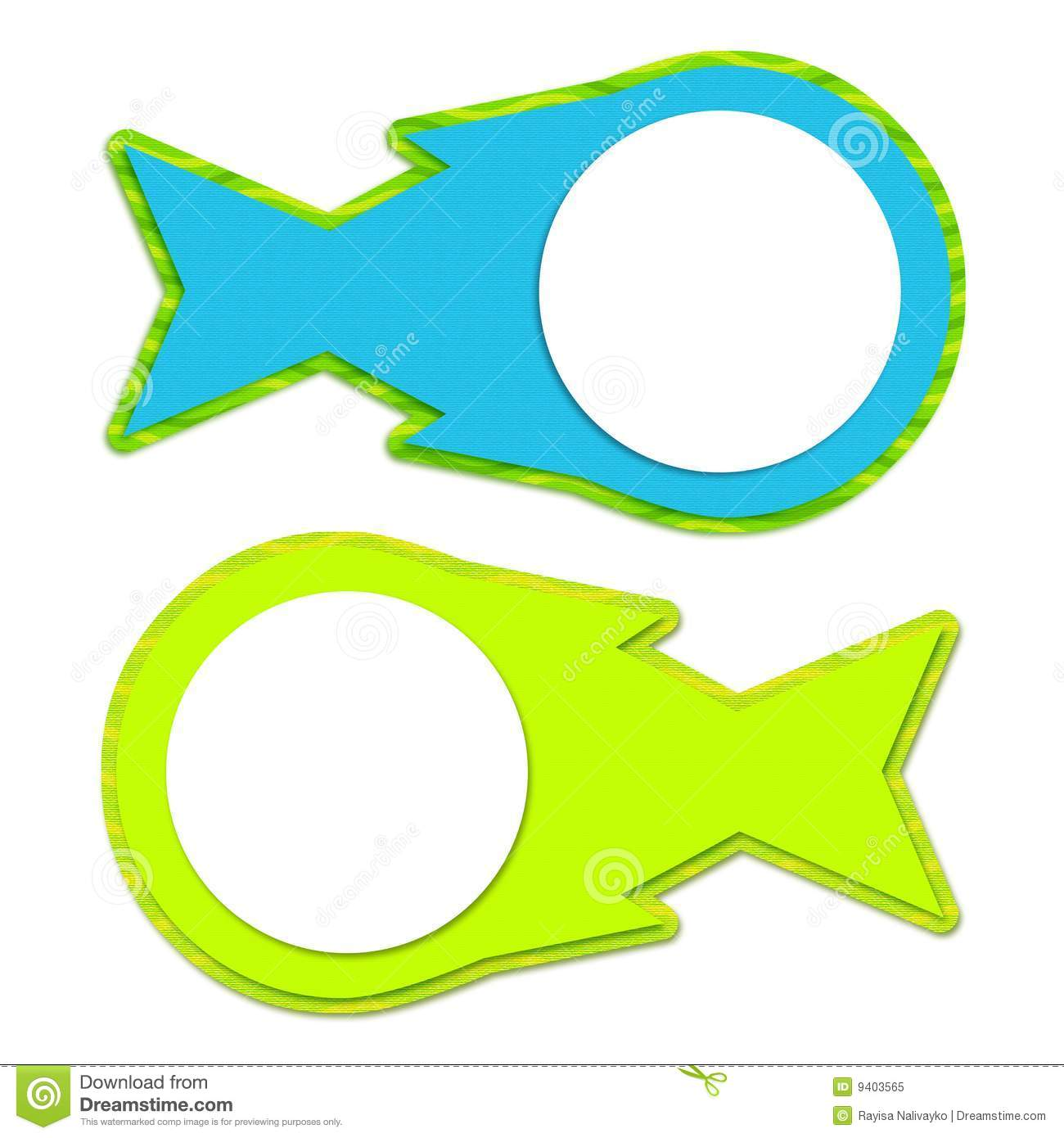 Two frame fish royalty free stock photo image 9403565 for Fish photo frame