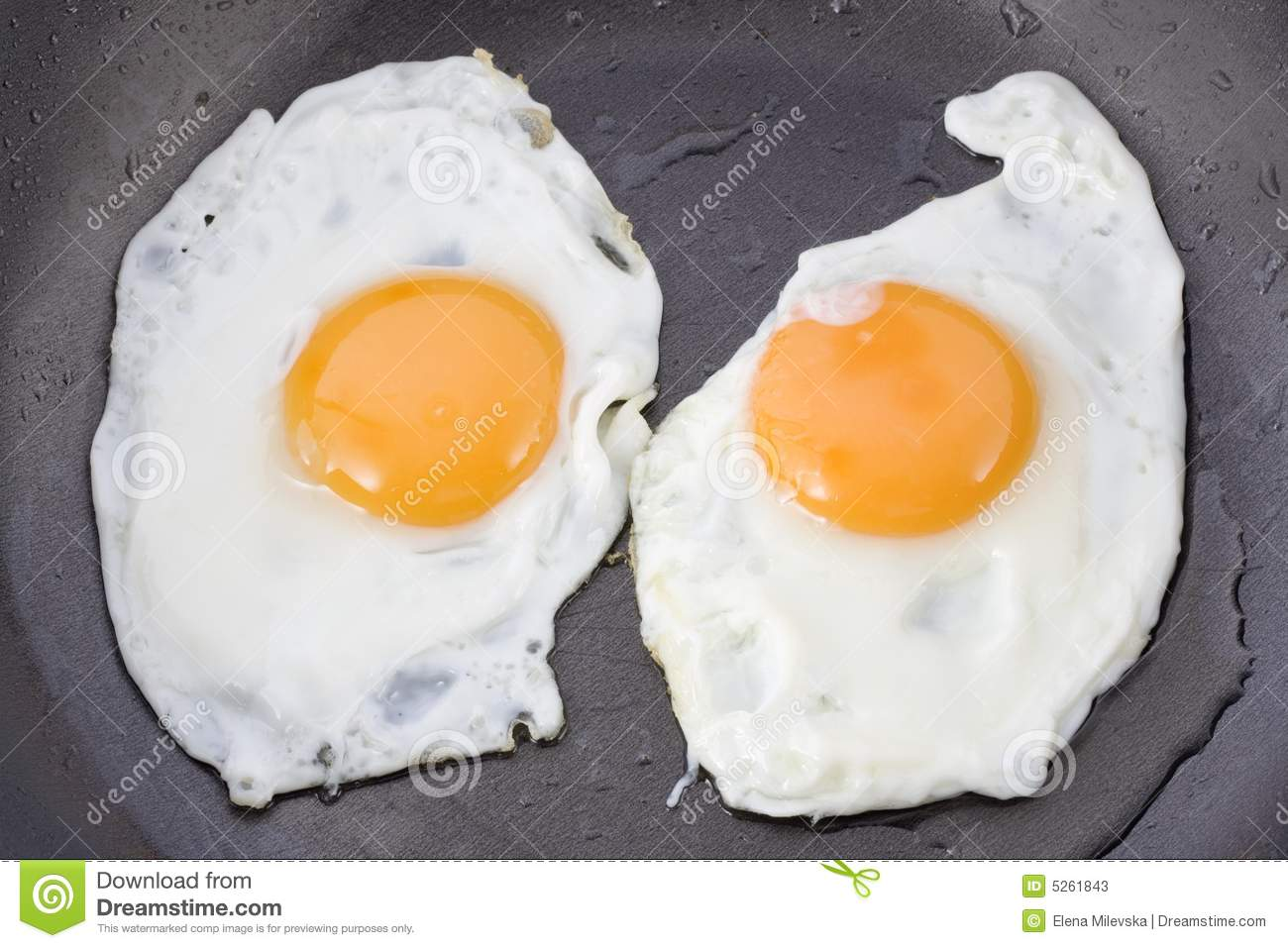 Two Fried Eggs Stock Image Image Of Protein Yellow