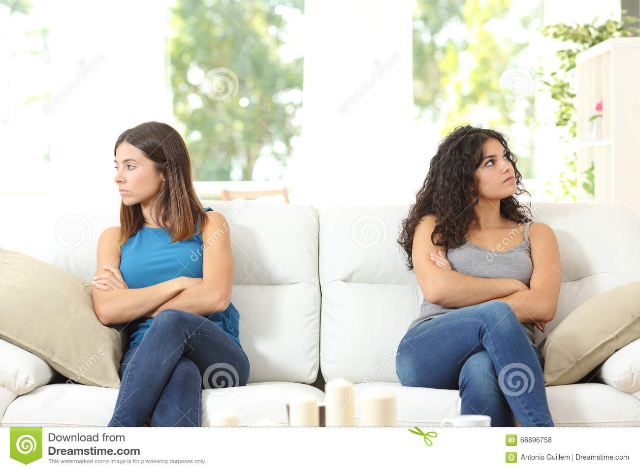 Two Friends Angry After Quarrel Stock Photo Image 68896758 : two friends angry quarrel sitting couch looking other side 68896758 from dreamstime.com size 1300 x 957 jpeg 106kB