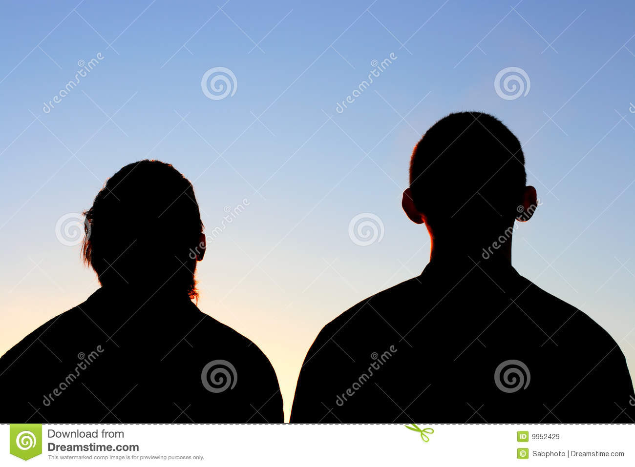 Two Friends Silhouette Royalty Free Stock Images Image