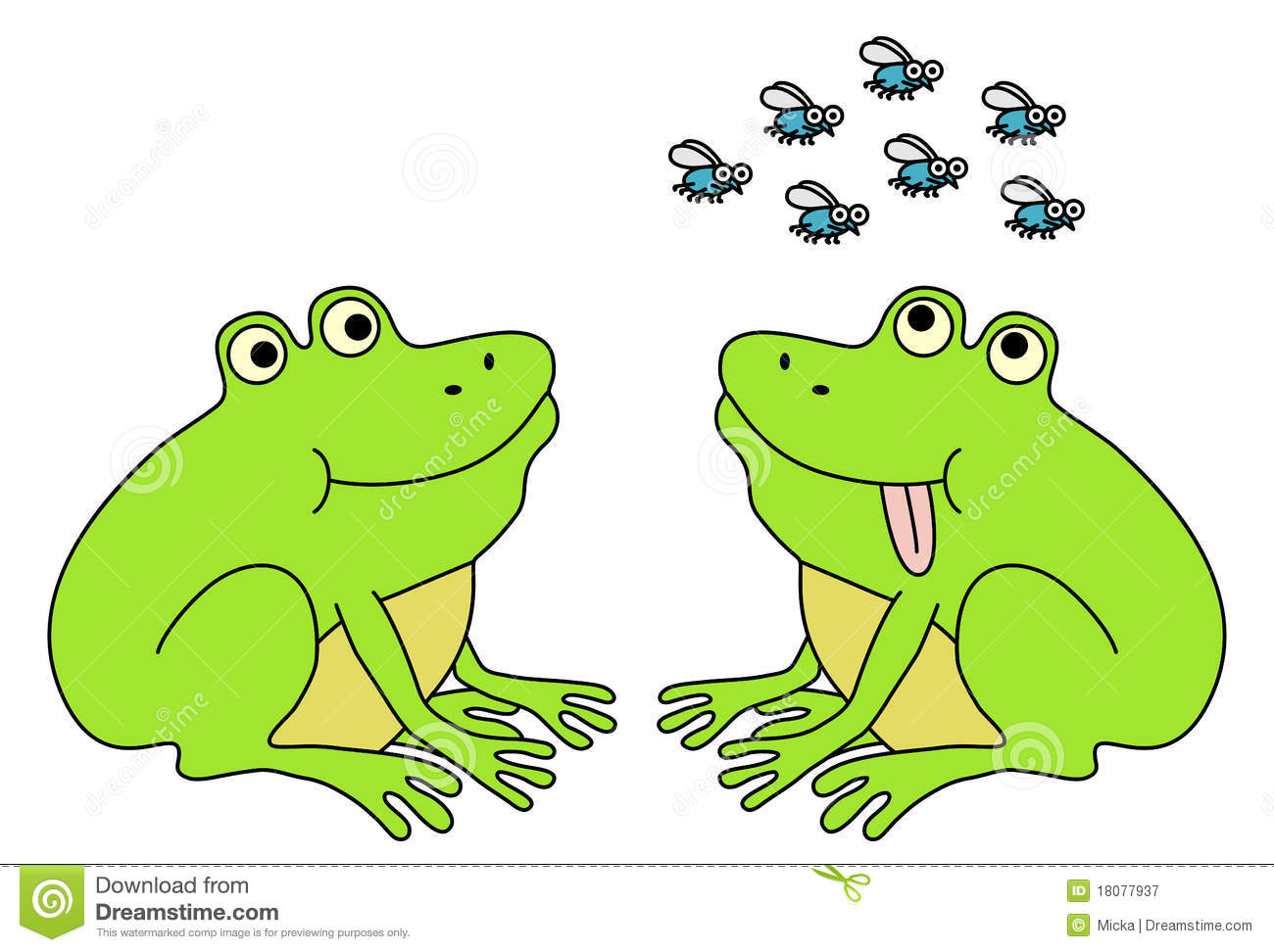 Two Frogs Waiting For Flies Royalty Free Stock Photography