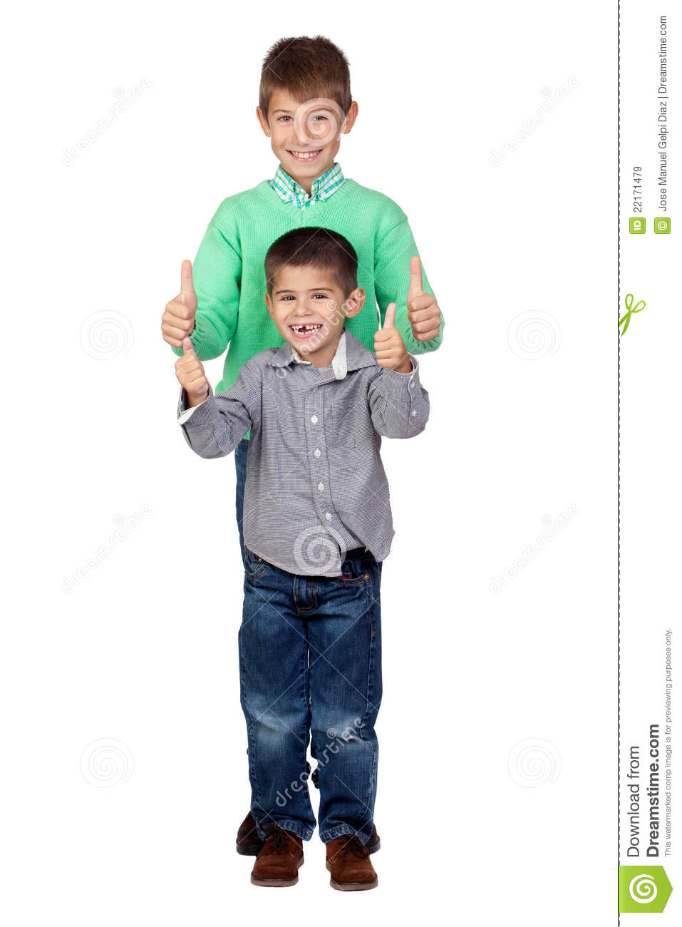 Two funny brothers saying Ok