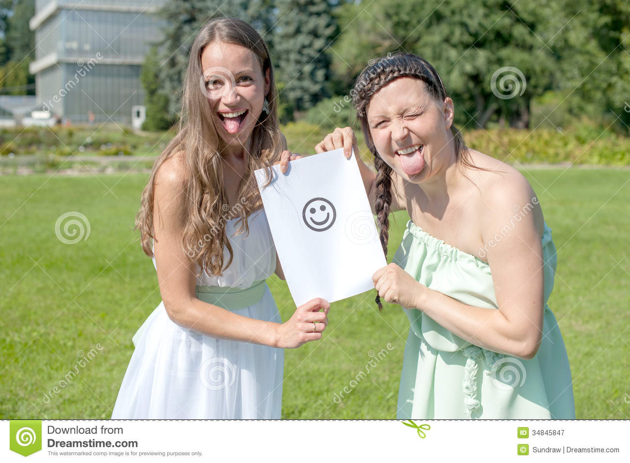 Two Funny Girls Royalty Free Stock Photography - Image ...