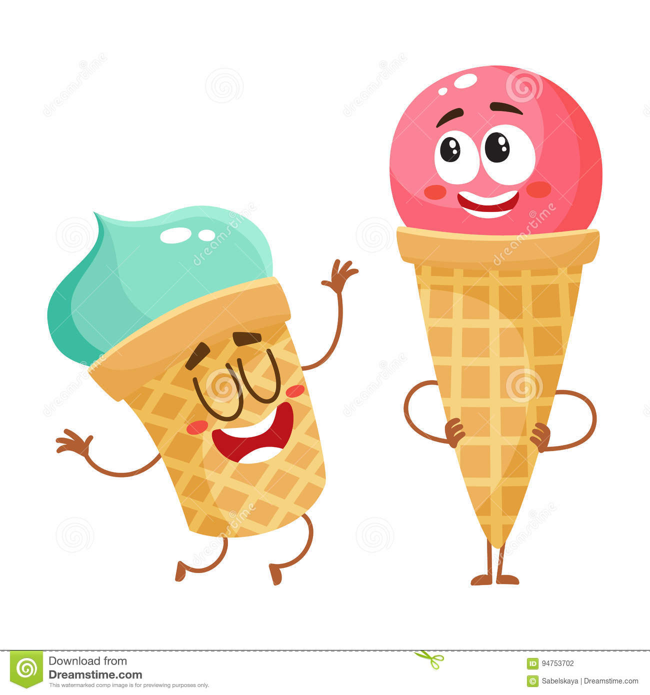 Download Cartoon Ice Cream Wallpaper Gallery: Two Funny Ice Cream Characters