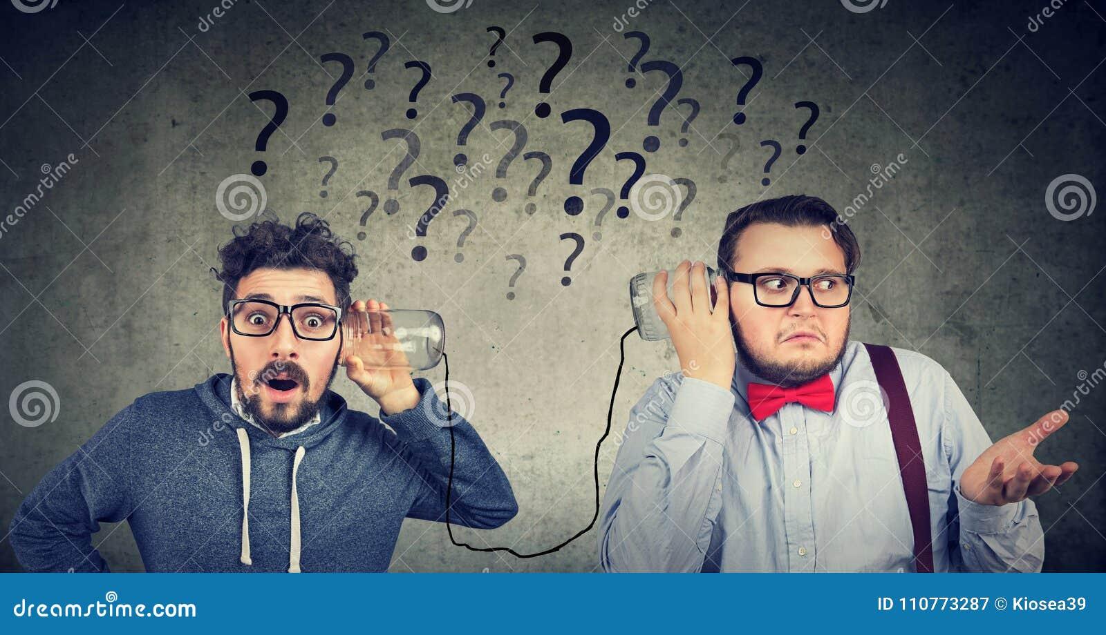 Two men having troubled communication