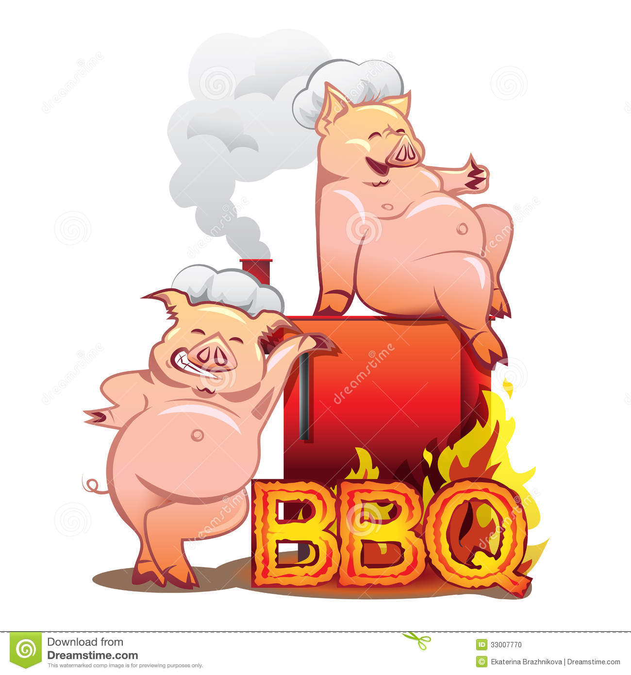 Two funny pigs near the red smoker stock vector - Pig wallpaper cartoon pig ...