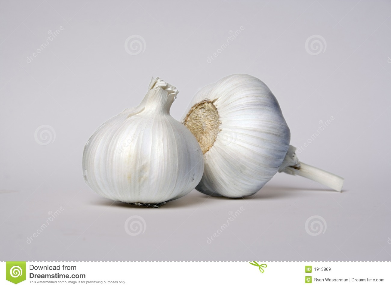 Two Garlic Cloves Royalty Free Stock Images - Image: 1913869