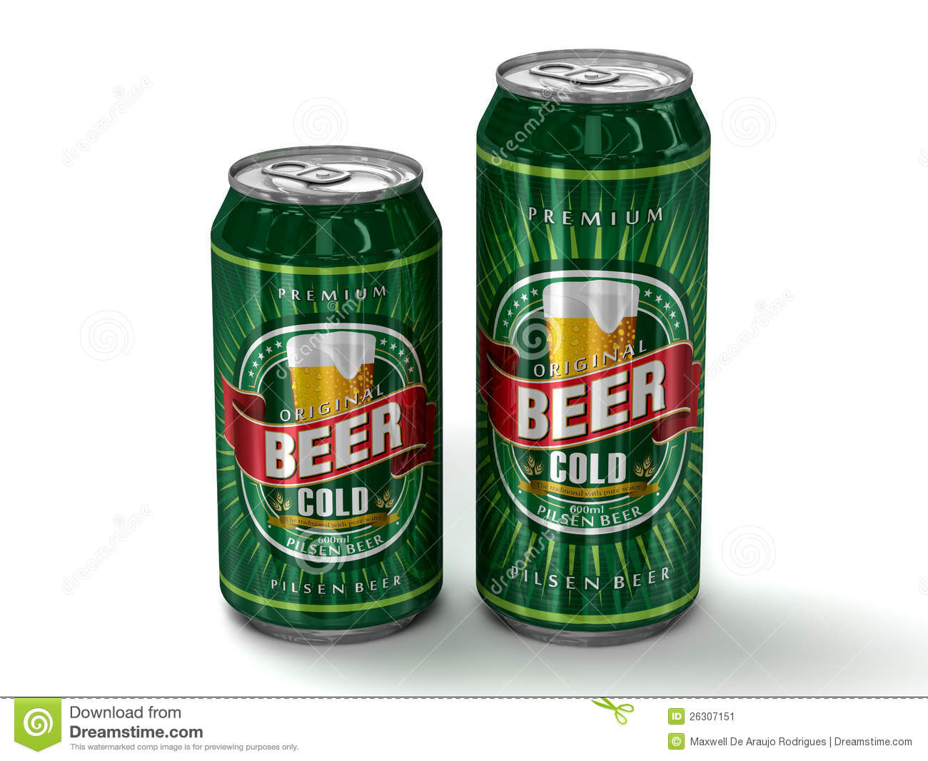 Two generic beer cans