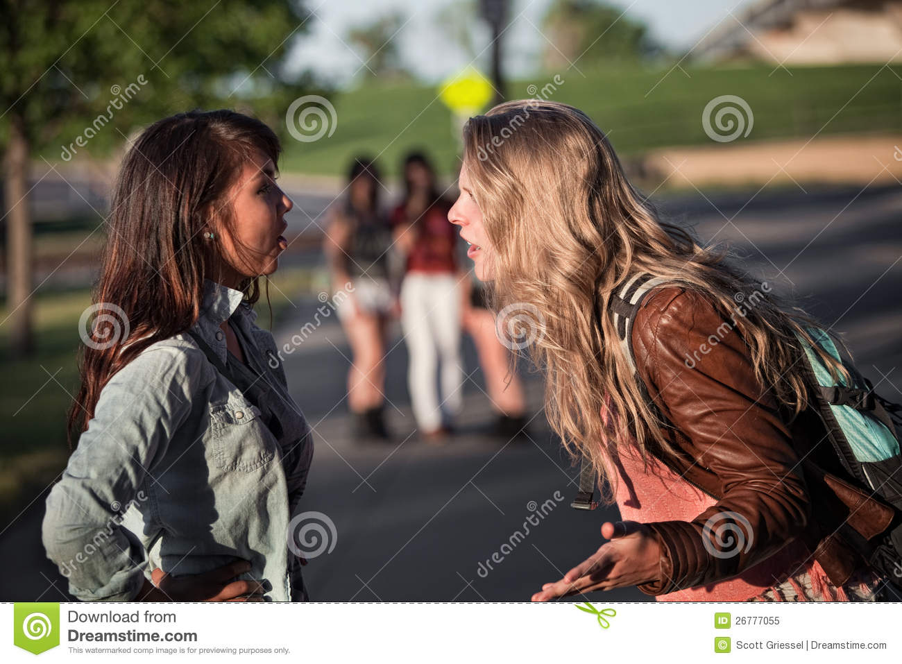 Two Girls Arguing Royalty Free Stock Photo - Image: 26777055