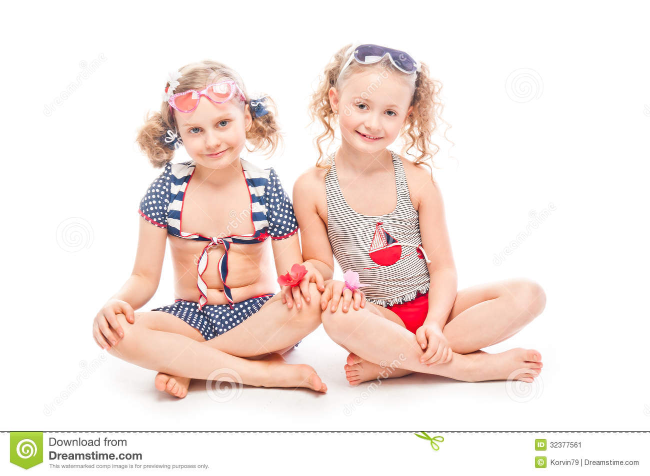 Two Girls In Bathing Suits Stock Image - Image: 32377561