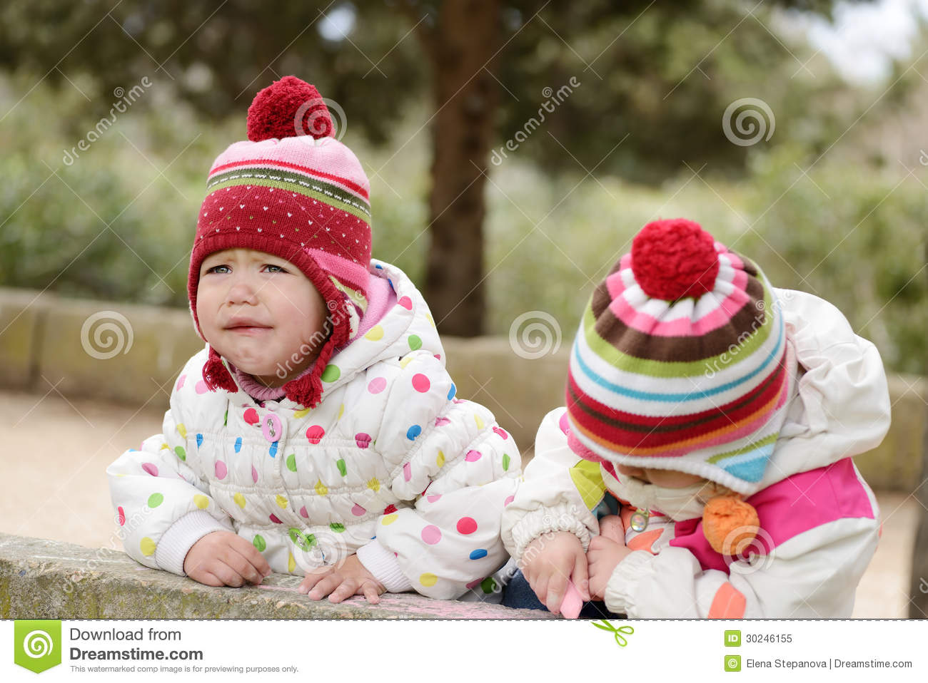 Not Sharing Toys : On the walk royalty free stock photo image