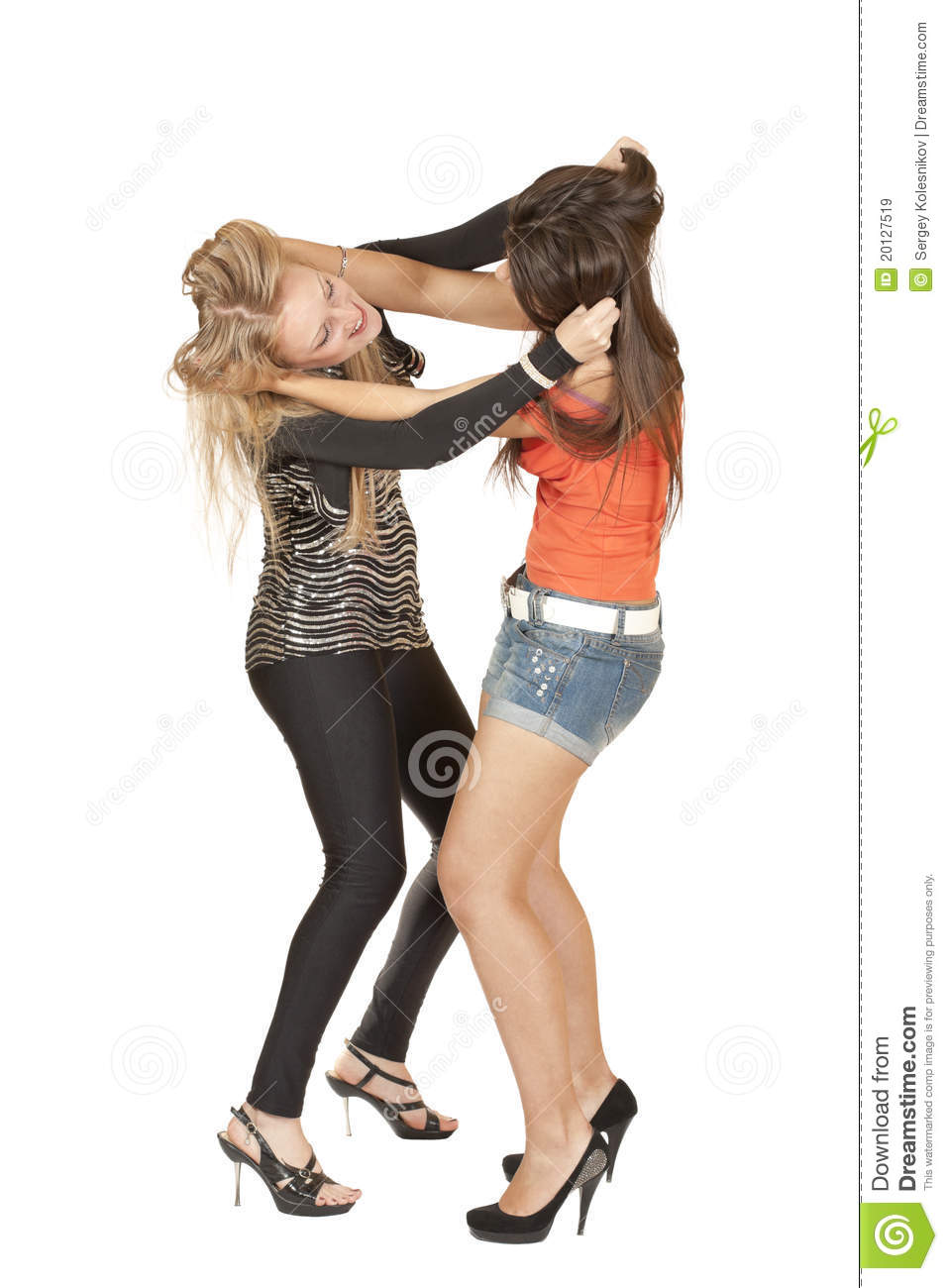 Two girl fighting fantastic