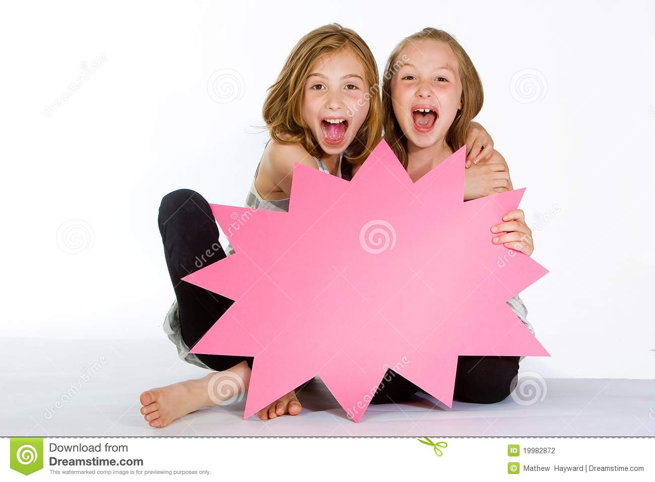 Young teen girl excited accept